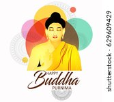 illustration of buddha purnima... | Shutterstock .eps vector #629609429