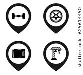 symbol icon. set of 4 symbol... | Shutterstock .eps vector #629614490