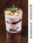 berry dessert | Shutterstock . vector #629615150