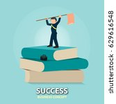 never dream about success ... | Shutterstock .eps vector #629616548
