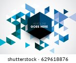 vector abstract geometric... | Shutterstock .eps vector #629618876