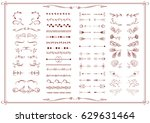 vintage vector set of artistic... | Shutterstock .eps vector #629631464