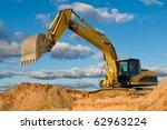 Excavator Loader Machine Durin...