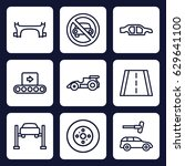 transport icon. set of 9... | Shutterstock .eps vector #629641100