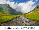 mountain stream in the valley...