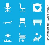 comfort icons set. set of 9... | Shutterstock .eps vector #629649014