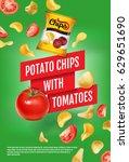 potato chips ads. vector... | Shutterstock .eps vector #629651690