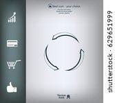 circular arrows vector icon | Shutterstock .eps vector #629651999