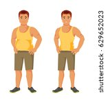 man before and after sports.... | Shutterstock .eps vector #629652023