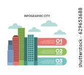 buildings infographic city