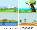 set of vector nature landscapes. | Shutterstock .eps vector #629656250