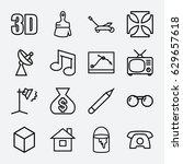 image icon. set of 16 image... | Shutterstock .eps vector #629657618