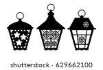 laser cut template of street...   Shutterstock .eps vector #629662100