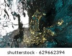 marbled black gold blue... | Shutterstock . vector #629662394