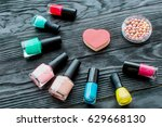 set of decorative cosmetics on... | Shutterstock . vector #629668130