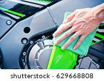 hand with man cleaning... | Shutterstock . vector #629668808