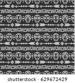 day of the dead. tribal hand... | Shutterstock .eps vector #629672429