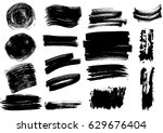 detail brush paint stroke... | Shutterstock .eps vector #629676404