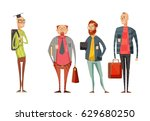 teachers retro cartoon... | Shutterstock .eps vector #629680250
