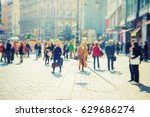 silhouette of people walking on ...   Shutterstock . vector #629686274
