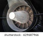 an exhaust nozzle of aircraft... | Shutterstock . vector #629687966