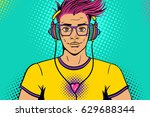 young sexy handsome man with... | Shutterstock .eps vector #629688344