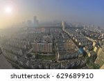 severe fog and haze of the city.... | Shutterstock . vector #629689910