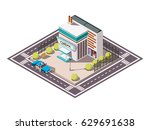 rescue service isometric set... | Shutterstock .eps vector #629691638