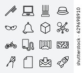 object icon. set of 16 object... | Shutterstock .eps vector #629698910