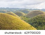 the chocolate hills view  bohol ... | Shutterstock . vector #629700320
