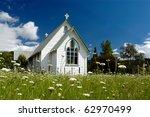 A Church In A Field In New...