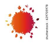 leaves icon. autumn season... | Shutterstock .eps vector #629705978