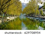 beautiful pont des amours ... | Shutterstock . vector #629708954