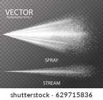 water spray white fog template... | Shutterstock .eps vector #629715836