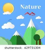 paper cut nature | Shutterstock .eps vector #629731304
