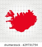 iceland map in diamond... | Shutterstock .eps vector #629731754