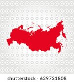 russia map in diamond... | Shutterstock .eps vector #629731808