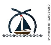 sailboat icon image | Shutterstock .eps vector #629734250