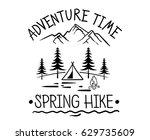 vintage old logo or badge ...   Shutterstock .eps vector #629735609