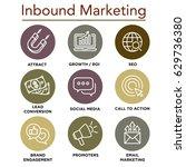 inbound marketing vector icons... | Shutterstock .eps vector #629736380