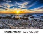 beautiful scenery on the sea... | Shutterstock . vector #629737259