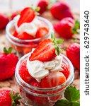 strawberry macro | Shutterstock . vector #629743640
