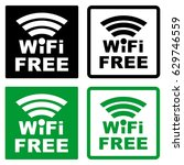 wi fi free icon. symbol.... | Shutterstock .eps vector #629746559