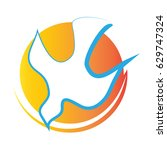 holy spirit symbol   a white... | Shutterstock .eps vector #629747324