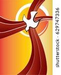 holy spirit symbol   a white... | Shutterstock .eps vector #629747336