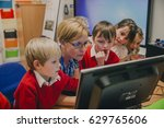 primary school students are...   Shutterstock . vector #629765606