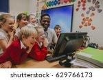 group of primary school... | Shutterstock . vector #629766173