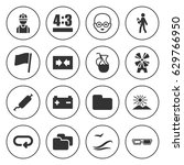 set of 16 blue filled icons... | Shutterstock .eps vector #629766950