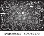 hand drawing doodle  vector... | Shutterstock .eps vector #629769170