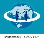global business. businessmen... | Shutterstock .eps vector #629771474